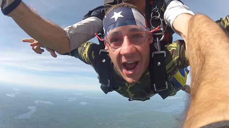 skydiving in maine